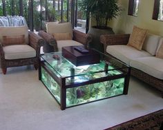 diy aquarium furniture stands are an integral part of every aquatic system. The aquarium stand should be sturdy so that it can bear the weight of a filled a Fish Tank Table, Fish Tank Coffee Table, Cool Coffee Tables, Coffee Table Design, Coffee Table Aquarium, Aquarium Design, Home Aquarium, Aquarium Ideas, Aquarium Fish