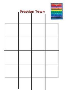 This is a fun fraction activity to incorporate into a lesson on equivalent fractions.  You have a town that is split into 16 parts, but there are a...