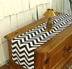 Black Chevron Table Runners for Wedding Decor, Birthday Parties, Party Decor, Holidays on Etsy, $11.95