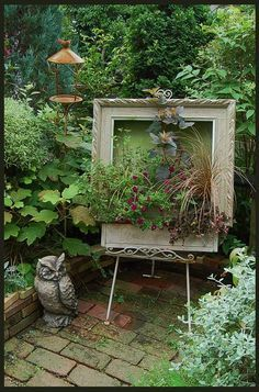 Picture frame planter box- Paint with plants!