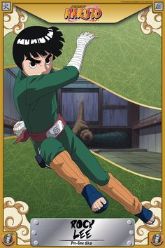 Pre Time-Skip Rock Lee is a genin level ninja shinobi from the Hidden Leaf Village and a member of Team Guy. Anime Naruto, Naruto Uzumaki Hokage, Lee Naruto, Sasuke Vs, Naruto Shippuden Anime, Naruto Art, Rock Lee, Boruto Characters, Anime Characters