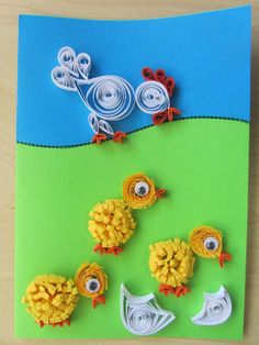 Quilling chickens