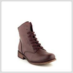 Felmini - Damen Schuhe - Verlieben Beja A829 - Schnürung Stiefeletten - Echtes Leder - Bordeaux - 40 EU Size - Stiefel für frauen (*Partner-Link)