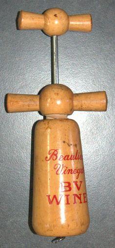 #Corkscrew #French #Vineyard #Vintage #Wood #Double #Handle #Mill Rare Tire Bouchon