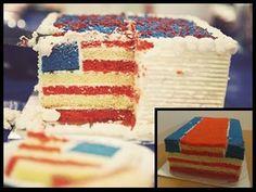 Hidden American Flag Cake - Duncan Hines