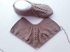 İki şiş patik modeli yapılışı - Canım Anne Knitting For BeginnersKnitting For KidsCrochet Hair StylesCrochet Scarf Gestrickte Booties, Knitted Booties, Knitted Slippers, Knitting Socks, Hand Knitting, Knitting Patterns, Filet Crochet, Crochet Top, Color Topo