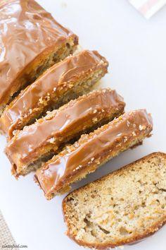 Dulce de Leche Banana Bread has sweet, unforgettable caramel frosting.
