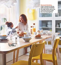 The new IKEA LISABO dining table