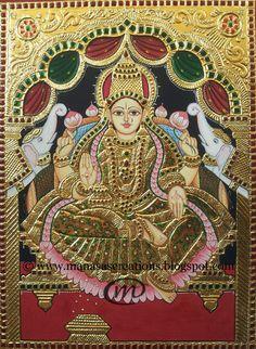 lakshmi devi tanjore paintings - Google Search
