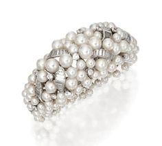 Cultured Pearl and Diamond Bracelet, David Webb