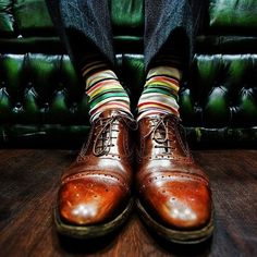 Make sure that your socks are long enough that there's no exposed leg when sitting down. | 27 Unspoken Suit Rules Every Man Should Know