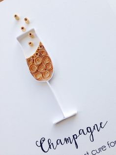 Quilled Champagne Flute card // Champagne by APaperLifeOriginals