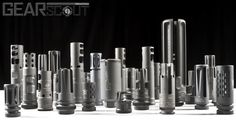 Muzzle brakes, comps and flash hiders.