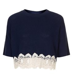 Topshop Lace Crop Top