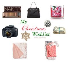 """""""My Christmas Wishlist"""" by kaarlaa88 on Polyvore featuring beauty, Urban Decay, Eos, Kate Spade, Nordstrom Rack and Victoria's Secret"""