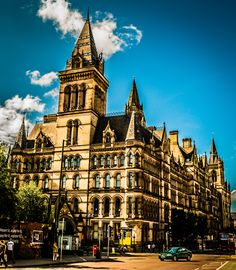 The back of Manchester Town Hall, nice.