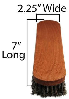 Mongolian Horsehair Shine Brush with Mahogany Wood Handle 305c011ef