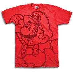 Nintendo Mario T-Shirt Red, $19, now featured on Fab. [Freeze, Nintendo]