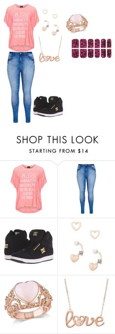 """school outfits"" by angie-1669 ❤ liked on Polyvore featuring Replace, City Chic, DC Shoes, Lipsy, Amour and JustFab"