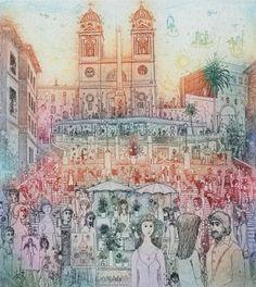 """Képtalálat a következőre: """"gross arnold rézkarc"""" Fairy Land, Techno, Printmaking, Renaissance, Vintage World Maps, Fantasy, Artist, Painting, Illustrations"""