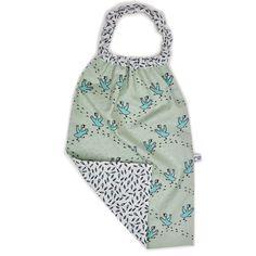 Serviette cou elastique frenzied coton biologique baby bib organic fabric