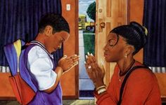 A family that prays together, stays together.  Before school, after school, and while they are there!
