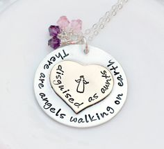 Hand Stamped Jewelry Personalized Necklace by 3LittlePixiesShoppe #giftforaunts #auntnecklace #auntjewelry