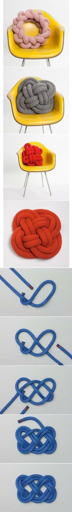 DIY Knot Pillow                                                                                                                                                                                 More