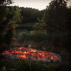 #northern way of having fun in the #wilderness  #outdoor #camping #firewalk