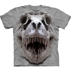 The T-Rex Big Skull Kids T-Shirt from THE MOUNTAIN is one of the coolest dino tees you'll ever find! For a look that will never go extinct, shop our huge collection of DINOSAUR T-SHIRTS. Skull Shirts, 3d T Shirts, Boys T Shirts, Printed Shirts, Dinosaur Shirt, Dinosaur Gifts, Big Face, T Rex, Classic T Shirts