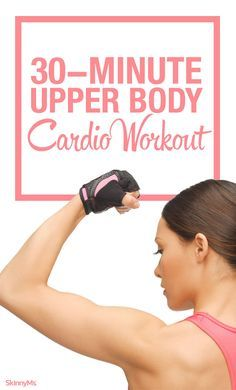 Cardio Workouts This upper body cardio workout combines moves that target the biceps and shoulders with heart-pumping cardio moves that torch calories. - Strength and cardio in 30 minutes! Cardio Boxing, Best Cardio Workout, Fun Workouts, Exercise Cardio, Workout Tips, Pilates Workout, Workout Plans, Workout Challenge, Hiit