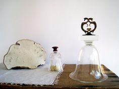 Vintage Glass Cloche Large 10 with Antique Brass by BirdinHandVTG, $54.00