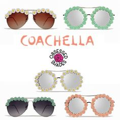 Shop new Coachella styles www.obsessedshades.com