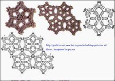 PATRONES - CROCHET - GANCHILLO - GRAFICOS: GRANNYS PARA TEJER A GANCHILLO