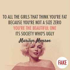 5. Marilyn Monroe - 7 Quotes on Body Image Every Teen Should Know ...