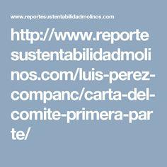 Carta del comitĂŠ, primera parte – Reporte Sustentabilidad de Molino