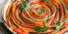 Tarte spirale aux légumes du soleil