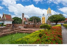 Wat Phra Si Rattana Mahathat also colloquially referred to as Wat Yai is a Buddhist temple (wat) in Phitsanulok Province, Thailand. Photography Day July 17, 2016. - stock photo