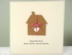 Personalized New Home Card rustic housewarming card by FluffyDuck, etsy