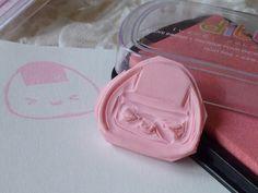 Cute Kawaii Onigiri Hand Carved Stamp SALE. $3.99, via Etsy.