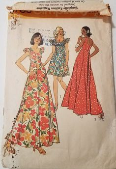 VTG. Sewing Pattern Simplicity 5736 Mumu Dress MAKE OFFER