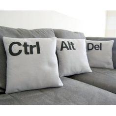 Techy pillows for the PC user. #pillows #livingroom #funny