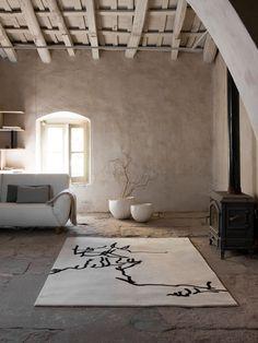 per la casa di campagna  Rectangular rug CHILLIDA by Nanimarquina | #Design Nani Marquina #interiors #wood