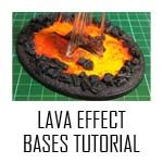 Lava Effect Bases Tutorial - GravenGames Warhammer 40k
