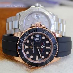 Rolex Yacht MasterStainless and Rose Goldboth in stock  crmjewelers Rolex  Watches de3abd071e2