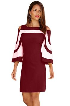 Now Available on chicloth.com: Chicloth Burgundy.... Check it out here:  http://chicloth.com/products/chicloth-burgundy-white-colorblock-dress?utm_campaign=social_autopilot&utm_source=pin&utm_medium=pin