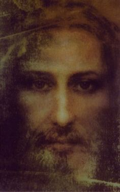 Face from the Shroud of Turin. Mary And Jesus, Jesus Is Lord, Real Image Of Jesus, Jesus Smiling, Immaculée Conception, Jesus Christ Painting, Sainte Therese, Marie Madeleine, Jesus Loves Us