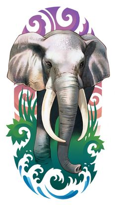 elephant tattoo with color - Google Search