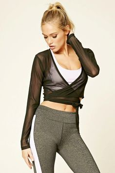 Look and feel your best in Forever 21 activewear and workout clothes for women! Get fit in our sports bras, leggings, shorts, crop tops & more. Tie Front Crop Top, Dance Fashion, Filets, Active Wear For Women, Spring Outfits, Style Inspiration, Clothes For Women, My Style, Workout Gear