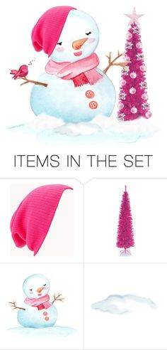 """""""A Snowgirls Pink Christmas..."""" by maryv-1 ❤ liked on Polyvore featuring art"""